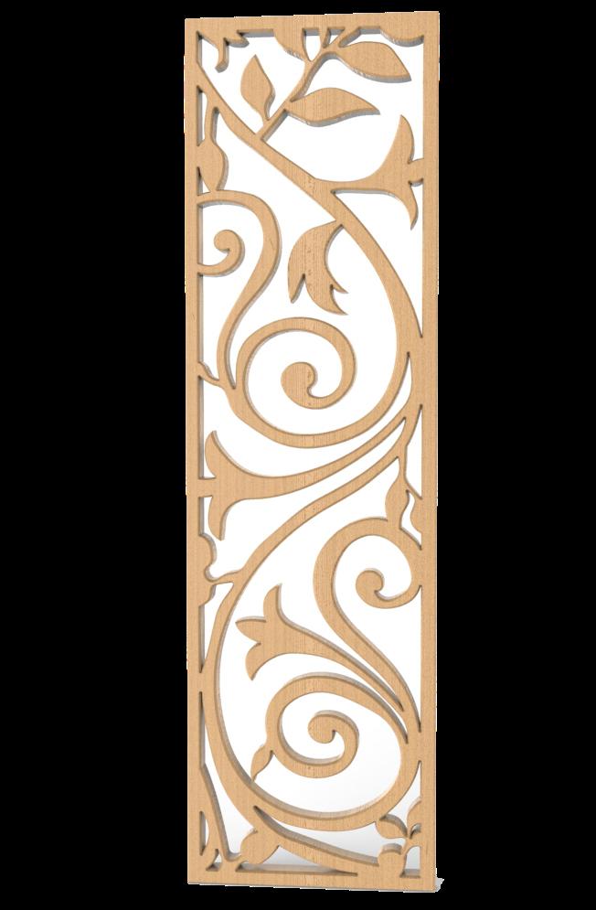 Ażurowa dekoracja wycinana cnc