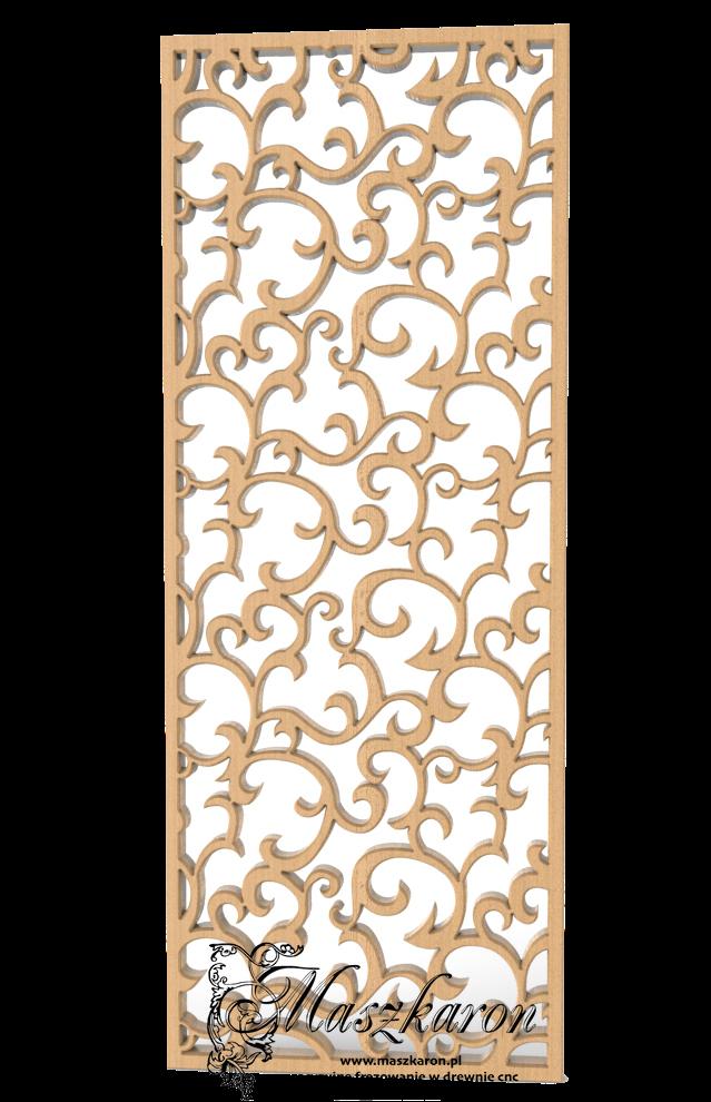 Wzory ażurów frezowane na cnc z mdf i sklejk